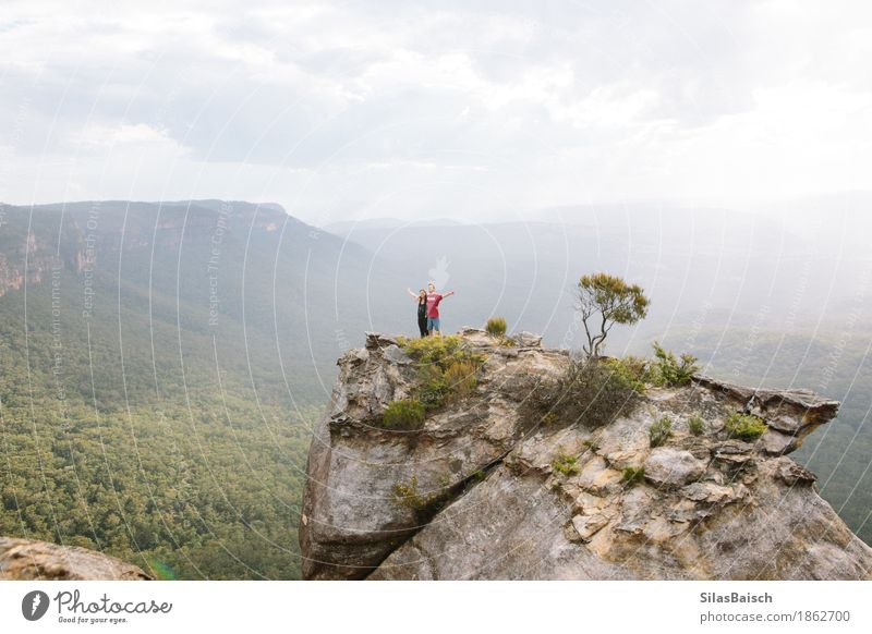 Hiking in Australia Lifestyle Joy Vacation & Travel Trip Adventure Far-off places Freedom Expedition Camping Summer vacation Mountain Human being