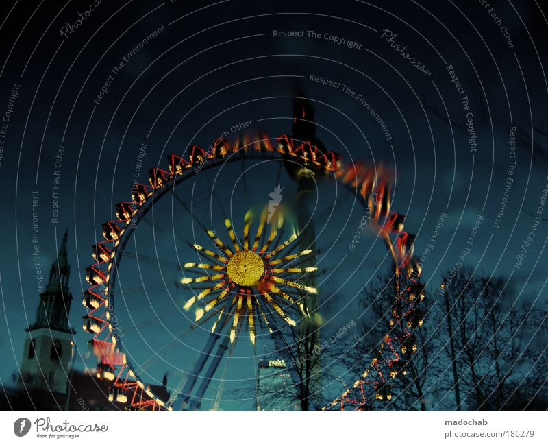 Christmas & Advent Style Feasts & Celebrations Light Star (Symbol) Culture Light (Natural Phenomenon) Fairs & Carnivals Visual spectacle Ferris wheel Illumination Christmas Fair Pool of light