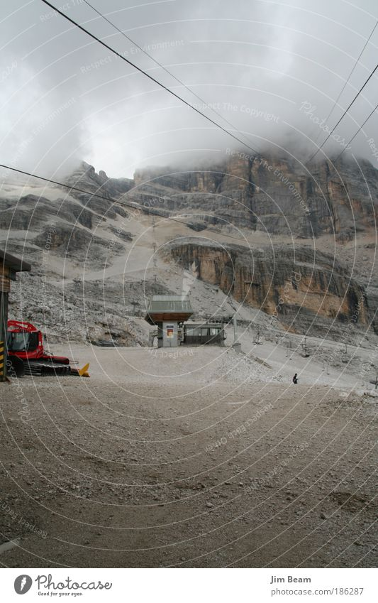 Nature Loneliness Relaxation Landscape Mountain Gray Dream Rock Fog Hiking Threat Longing To enjoy