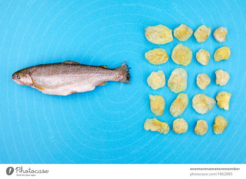 Fish'n'Chips'n'Stuff Art Work of art Esthetic Fishery Shoal of fish Fischland Crisps Unhealthy Nutrition Creativity Fashioned Decoration Funny Design 20 Trout