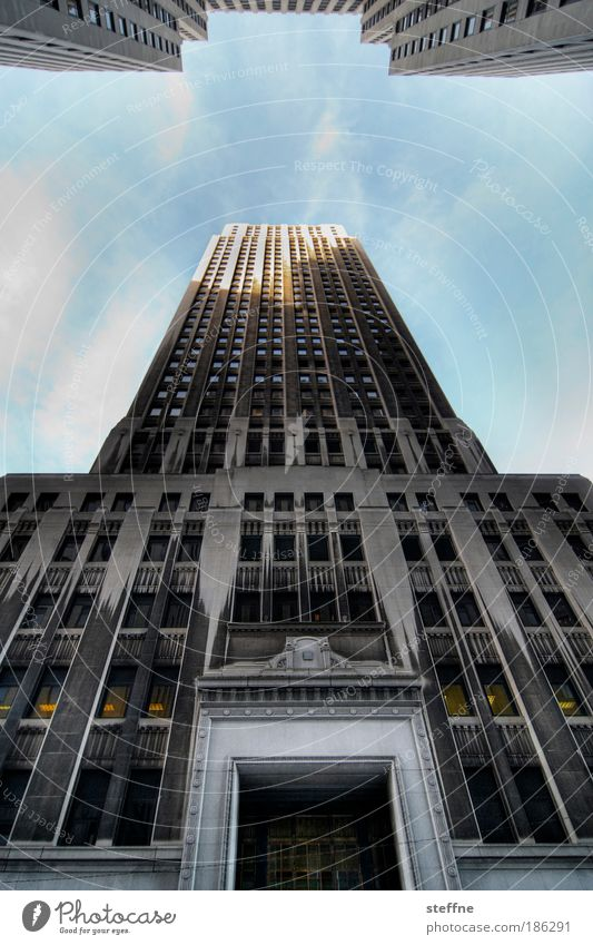 Sky Window Business Door Success High-rise Facade USA Luxury Skyline Downtown Beautiful weather House (Residential Structure) Financial Industry HDR