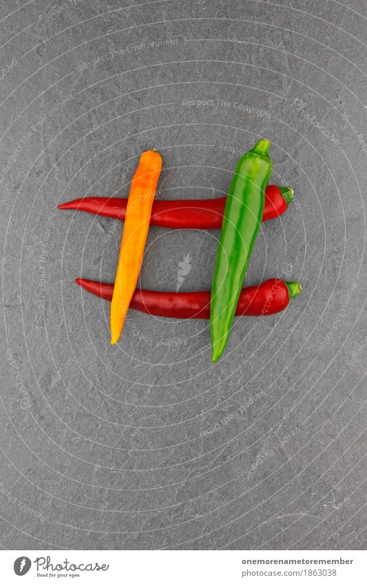 4 chili Art Esthetic Chili Chili sauce Chili harvest Tangy Sharp thing hash day Red Green Yellow Structures and shapes Slate Vegetable Food photograph