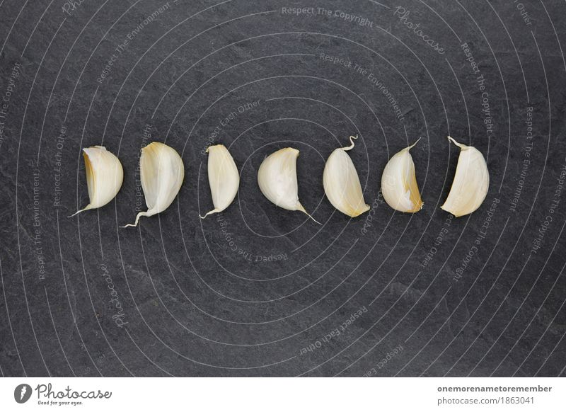 7 Garlic Art Work of art Esthetic Clove of garlic Garlic bulb Garlic's land Spicy Food photograph Colour photo Multicoloured Interior shot Studio shot Close-up