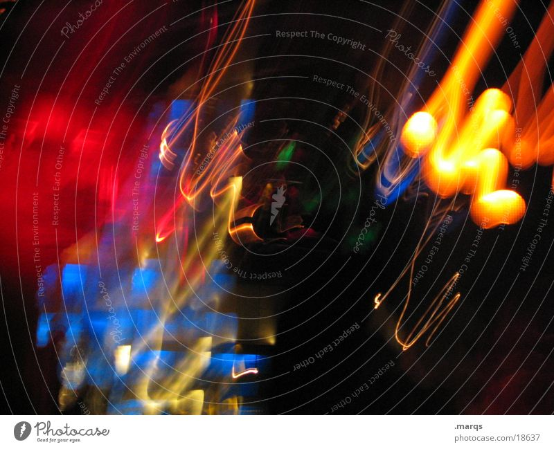 Colourful Light Multicoloured Long exposure Muddled Abstract marqs