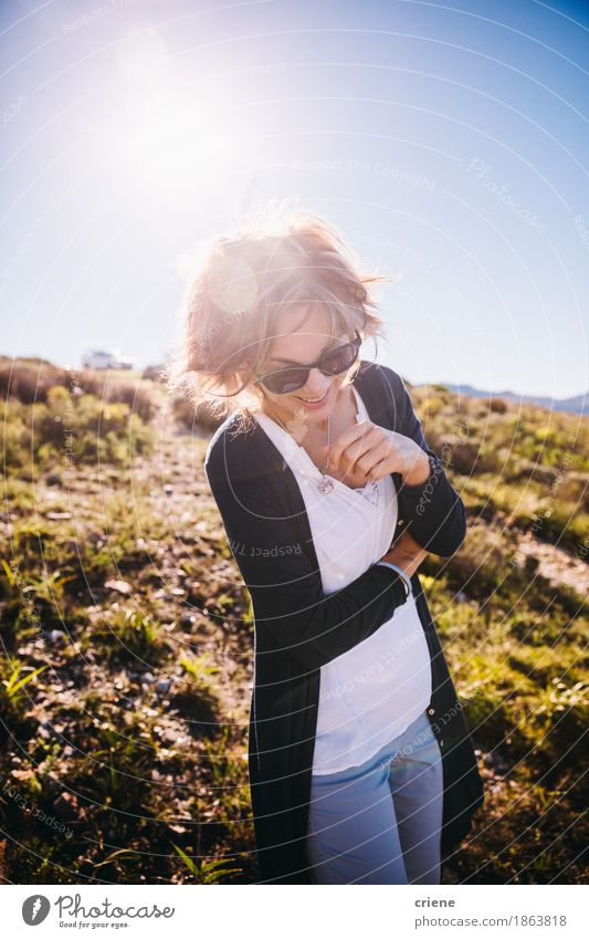 happy Mature women enjoying nature on holiday Human being Woman Nature Vacation & Travel Old Summer Joy Adults Emotions Senior citizen Lifestyle Feminine Laughter Moody Tourism Leisure and hobbies