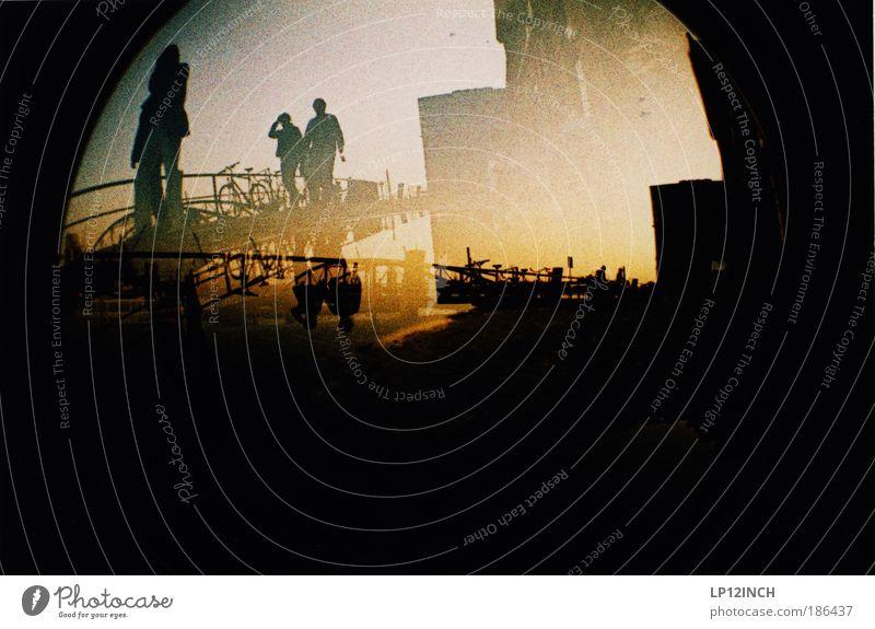 Human being City Black Yellow Dark Movement Warmth Lomography Going Masculine Modern Exceptional Crazy Bridge Lifestyle Serene