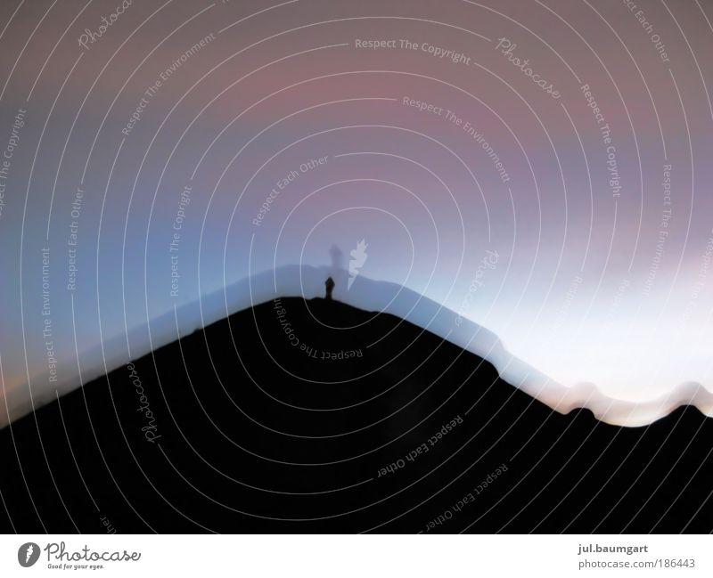 Volcano ascent at night Lifestyle Leisure and hobbies Vacation & Travel Adventure Far-off places Summer Hiking Nature Landscape Sky Mountain Moody Colour photo