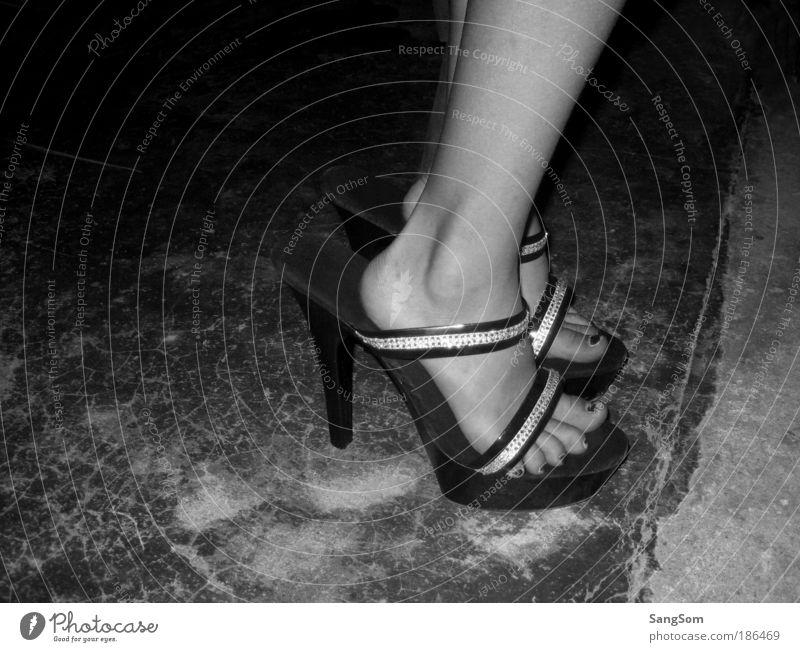 Human being Summer Joy Black Feminine Feet Footwear Infancy Dance Going Night Walking Large Enthusiasm Experience High heels