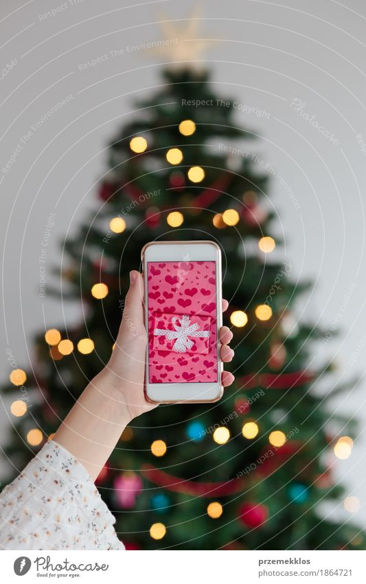 Online Christmas shopping using smart phone by przemekklos. A ...