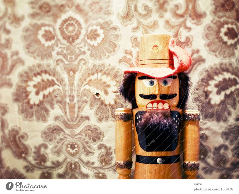 Christmas & Advent Old Wall (building) Wood Wall (barrier) Feasts & Celebrations Mouth Art Authentic Crazy Decoration Gift Retro Teeth Material