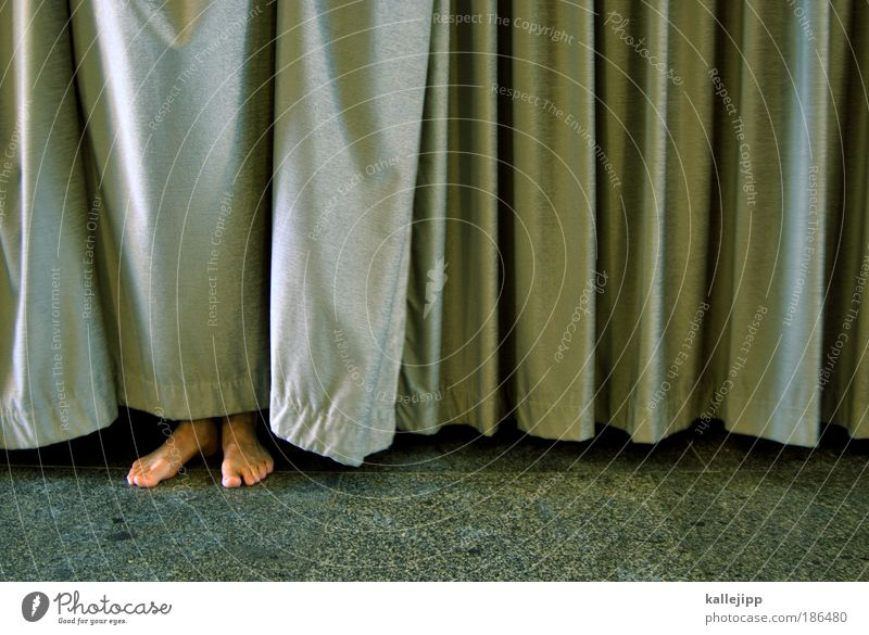 lover Lifestyle Living or residing Flat (apartment) House (Residential Structure) Masculine Legs Feet Stand Contact Protection Drape Hiding place Discover Shame