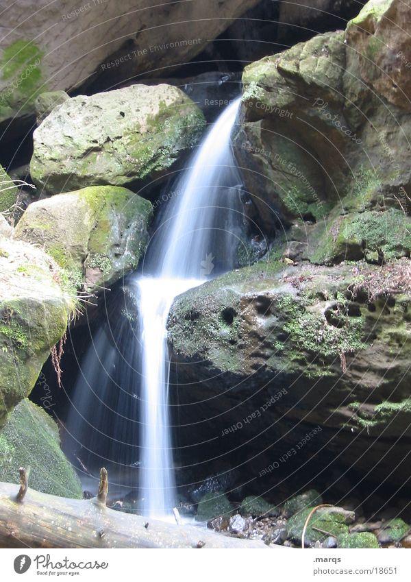 waterfall Long exposure Green Water Rock Waterfall Mountain Stone marqs