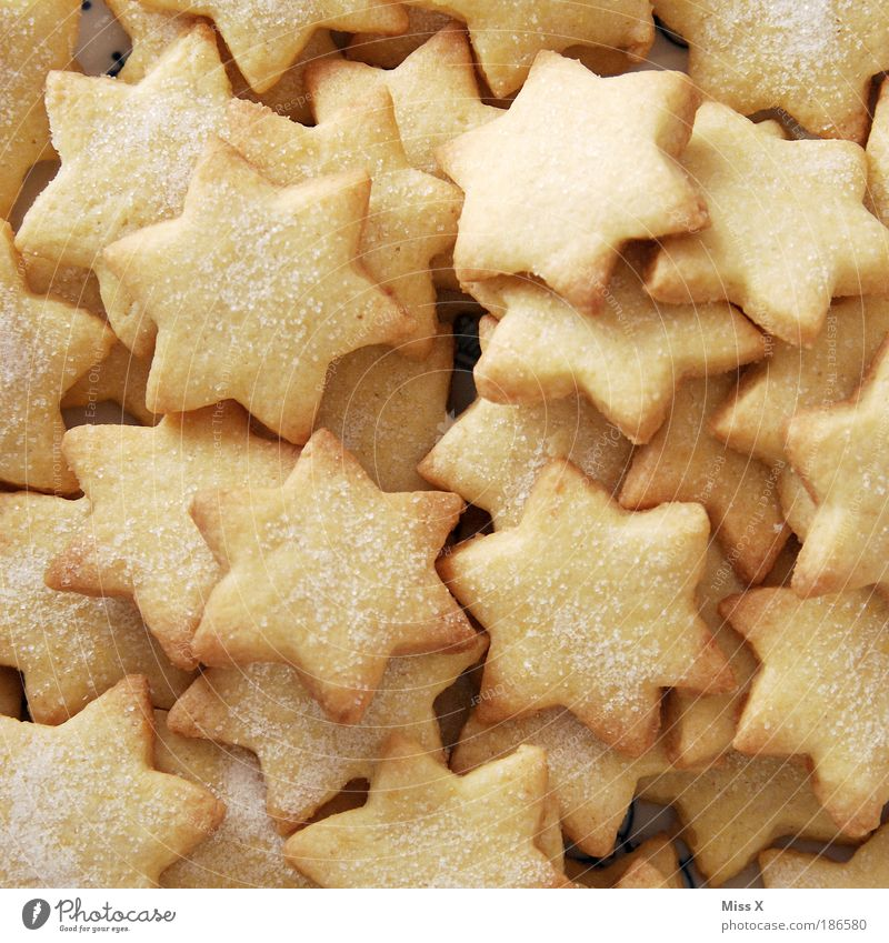 Bitte zugreifen! Christmas & Advent Small Feasts & Celebrations Food Decoration Nutrition Star (Symbol) Many Delicious Good Candy Fragrance Dessert Anticipation Sharp-edged Baked goods