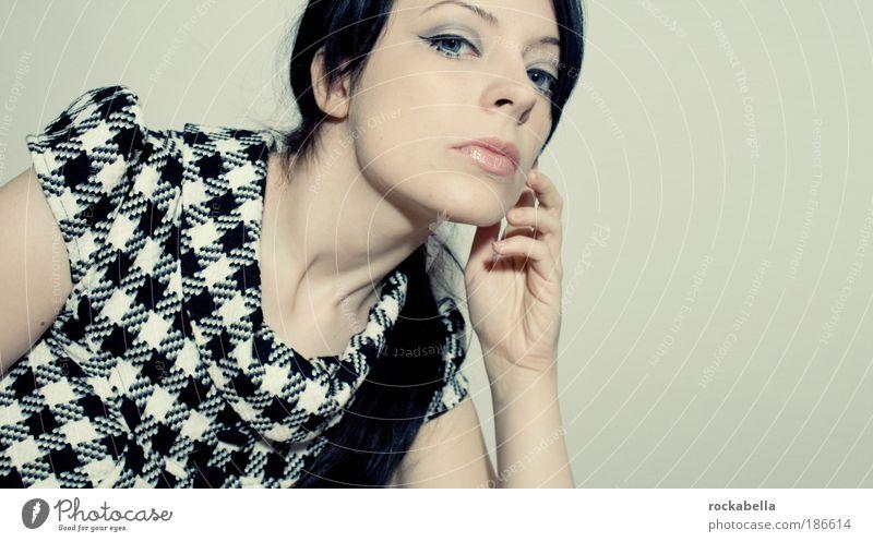 Woman Youth (Young adults) Beautiful White Black Feminine Style Fashion Adults Design Elegant Clothing Lifestyle Esthetic