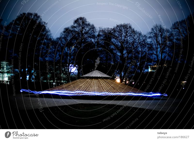 Flying Energy Future Technology Mysterious Universe Munich Science & Research Moon Hover Long exposure Night Advancement UFO Extraterrestrial being