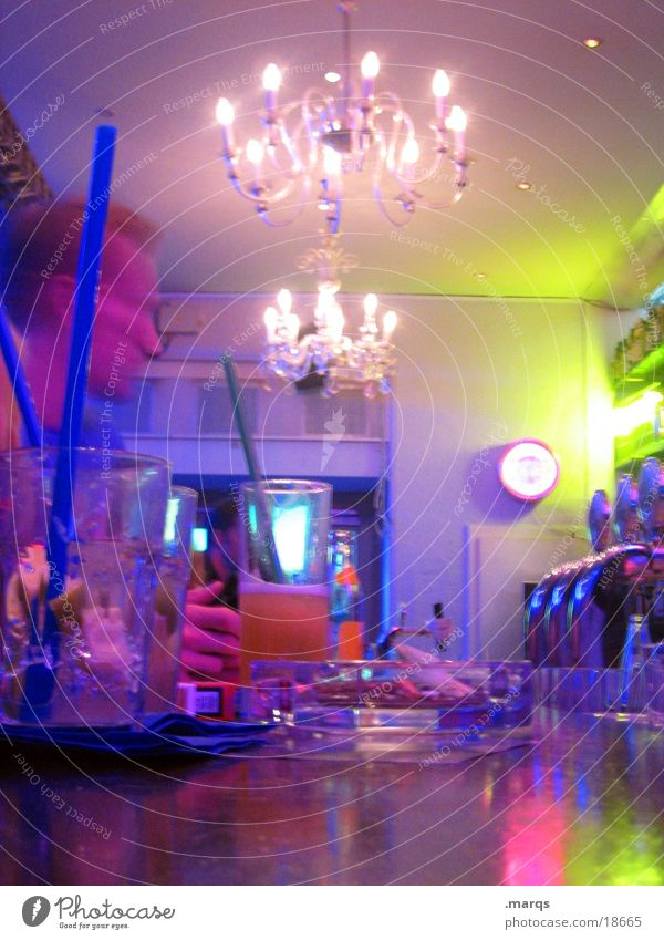 HighLife Bar Chandelier Counter Multicoloured Club Long exposure Light Music Dance marqs