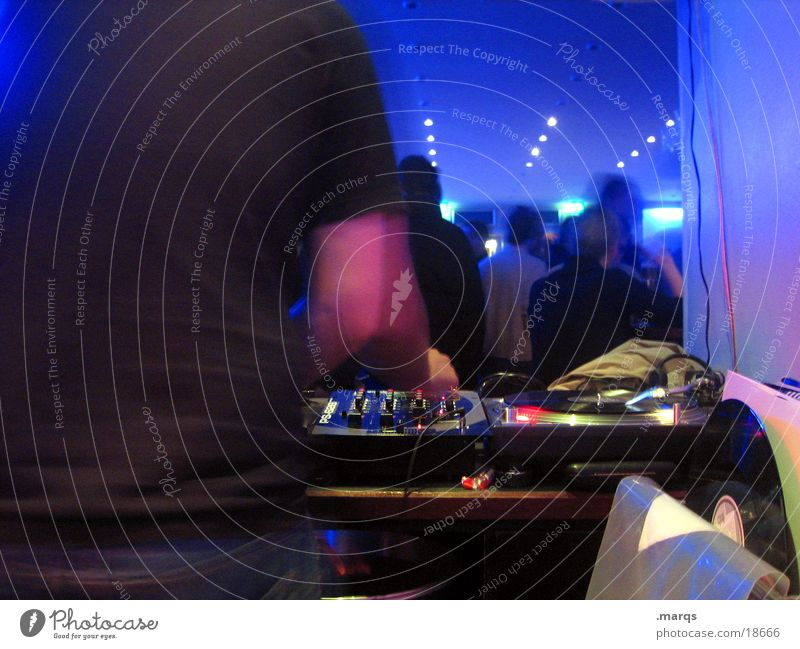 Behind the Scenes Night life Party Event Music Club Disco Disc jockey Going out Feasts & Celebrations Dance Human being Group Record Lie Blue Turntable