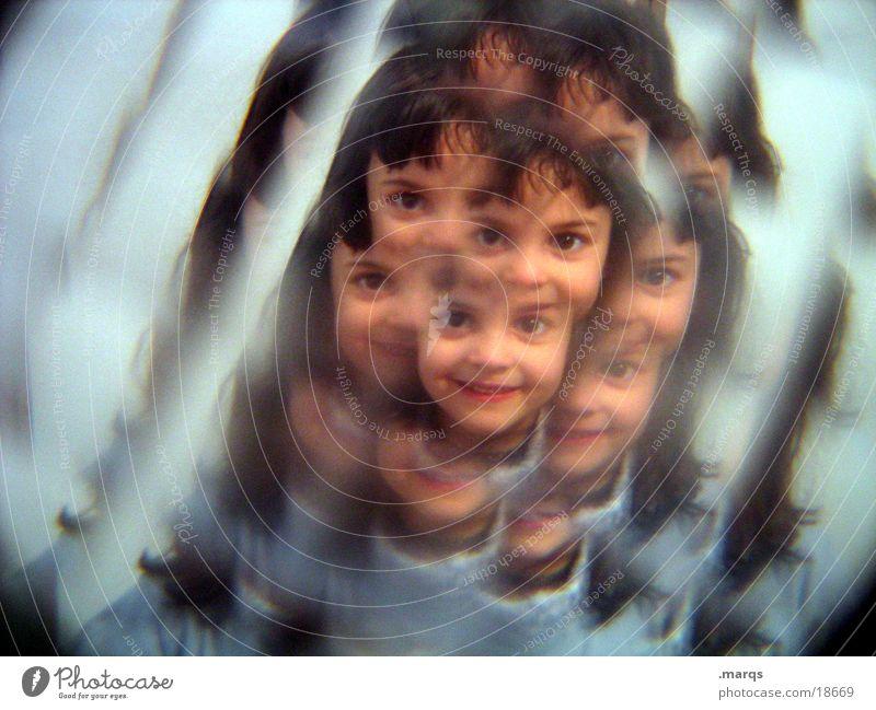 Child Girl Face Breakage Photographic technology Kaleidoscope Mostly