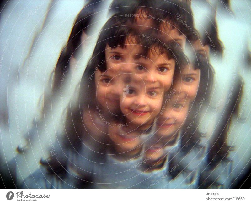 Child Girl Face Breakage Photographic technology Kaleidoscope Mostly