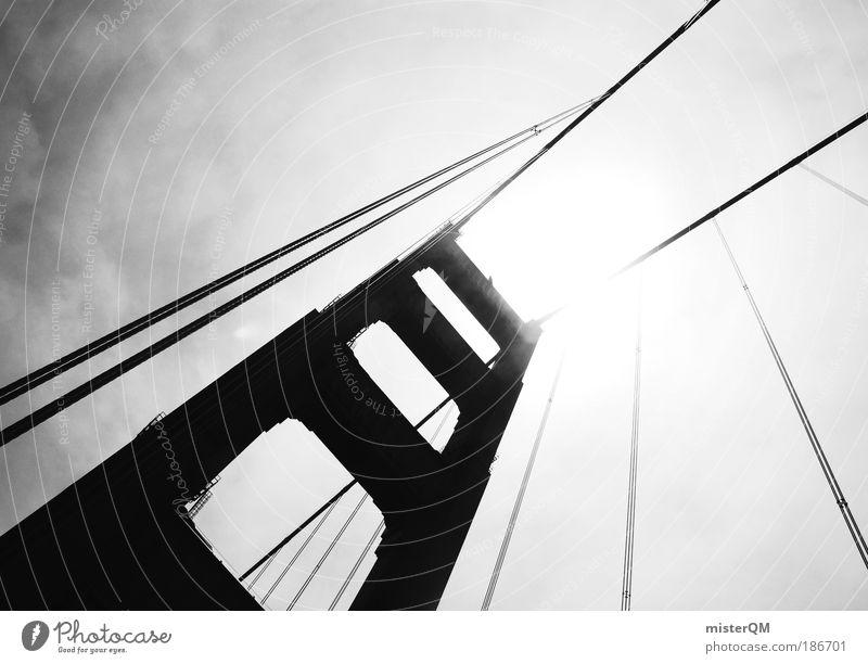 steel meets heaven. Bridge Esthetic Architecture Design Colossus Golden Gate Bridge San Francisco Steel construction California Americas Freedom Impressive