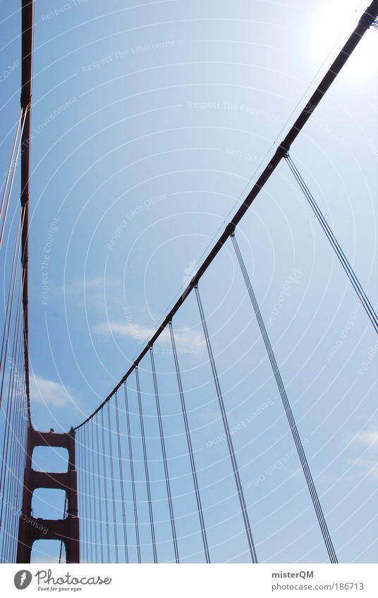 Big Red. Bridge Esthetic Contentment Stress Symmetry Golden Gate Bridge Steel construction USA California San Francisco Bridge pier Bridge construction