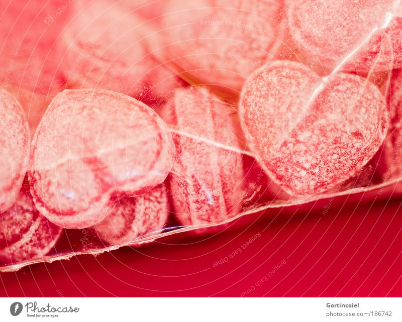 Red Love Nutrition Emotions Food Heart Pink Sweet Delicious Candy To enjoy Relationship Candy Sugar Paper bag Valentine's Day