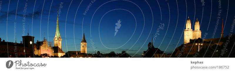 Sky City Emotions Building Architecture Europe Church Switzerland Weather Night sky Skyline Manmade structures Landmark Downtown