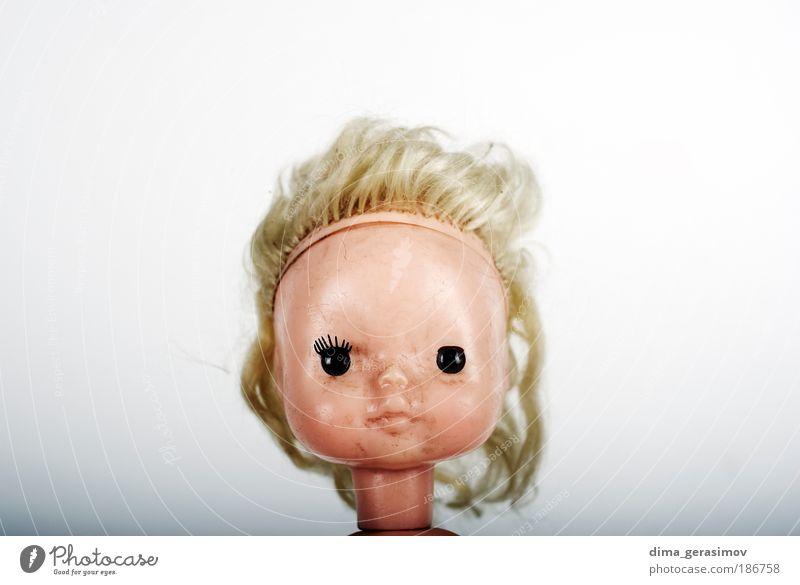 Face 2 Toys Doll Bizarre Mysterious eyes head hair toy Colour photo Close-up Deserted Flash photo Portrait photograph
