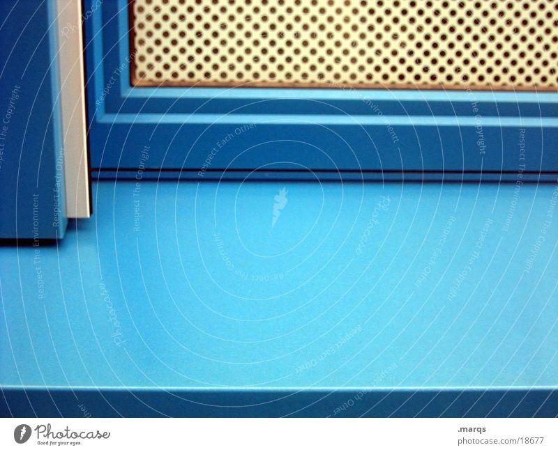 Blue Window Corner Grating Window board Photographic technology