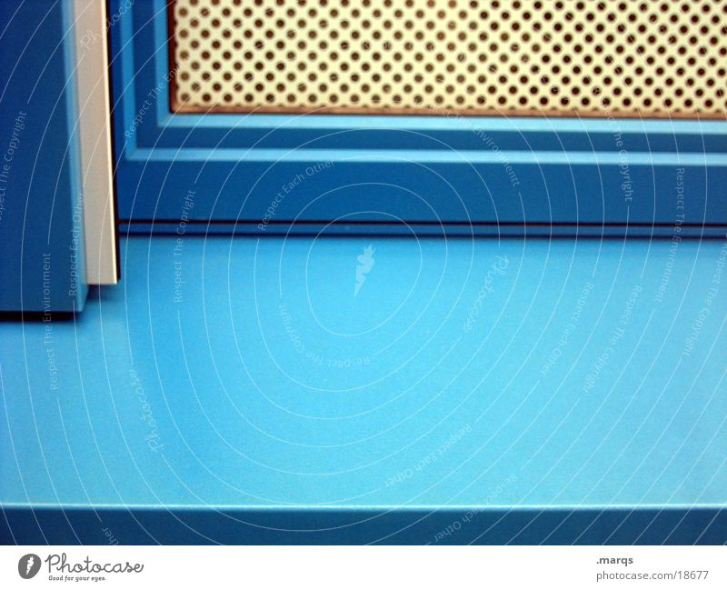 orthogonal Corner Structures and shapes Window Window board Grating Photographic technology Blue marqs