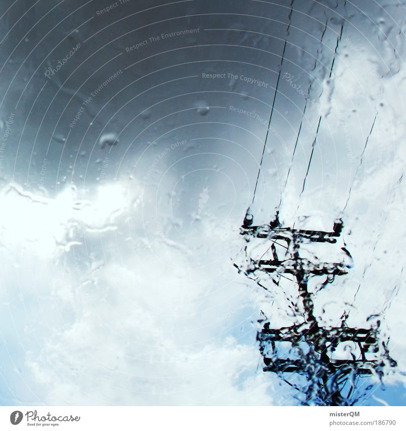 Sky Clouds Autumn Rain Weather Environment Wet Esthetic Future Cable Telecommunications Climate Gale Media Thunder and lightning Storm