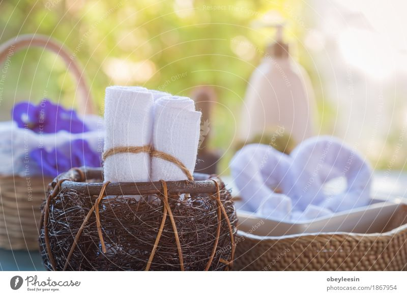 Rolled up white spa towels Nature Joy Lifestyle Style Art Happy Adventure Artist Spa