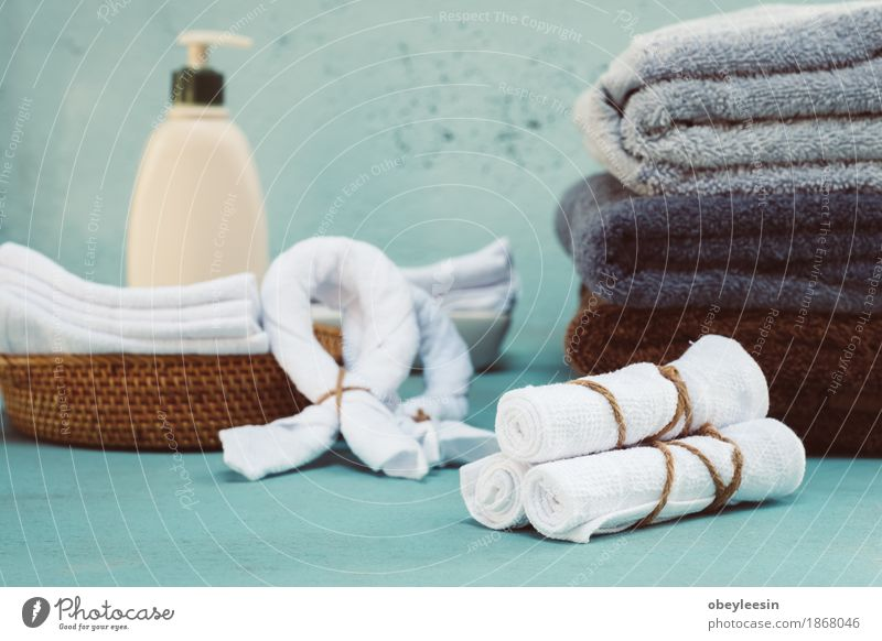 Rolled up white spa towels Relaxation House (Residential Structure) Lifestyle Art Adventure Artist Spa Utilize