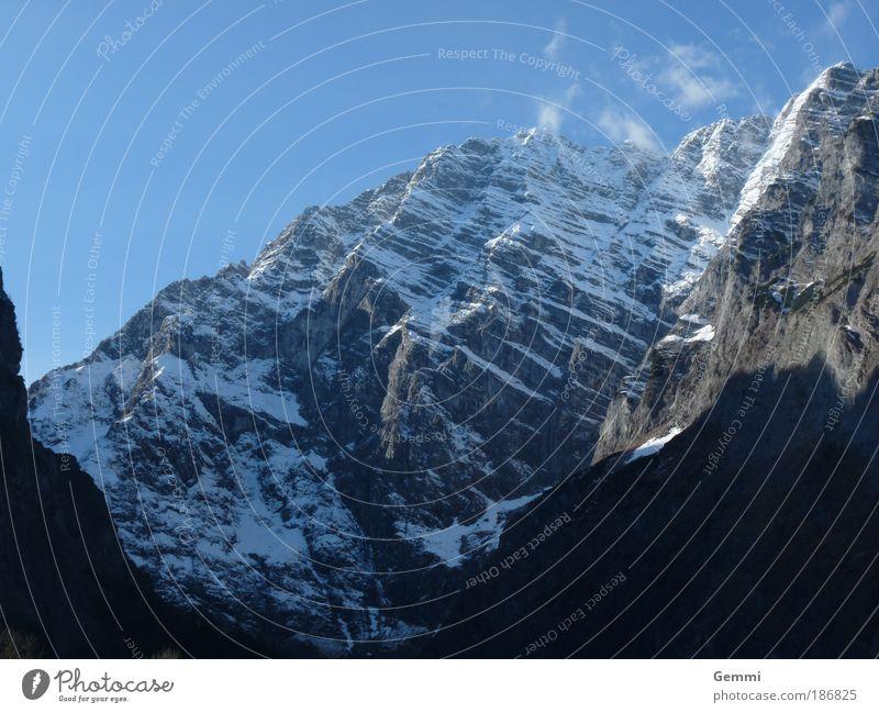The mountain Winter Mountain Climbing Mountaineering Environment Nature Landscape Sky Autumn Rock Alps Peak Snowcapped peak Berchtesgaden Berchtesgaden Alpes