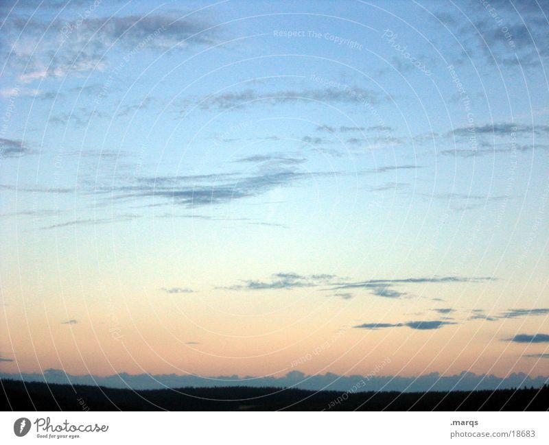 Sky Clouds Far-off places Mountain Dream Horizon Vantage point Longing Dusk Black Forest Color gradient