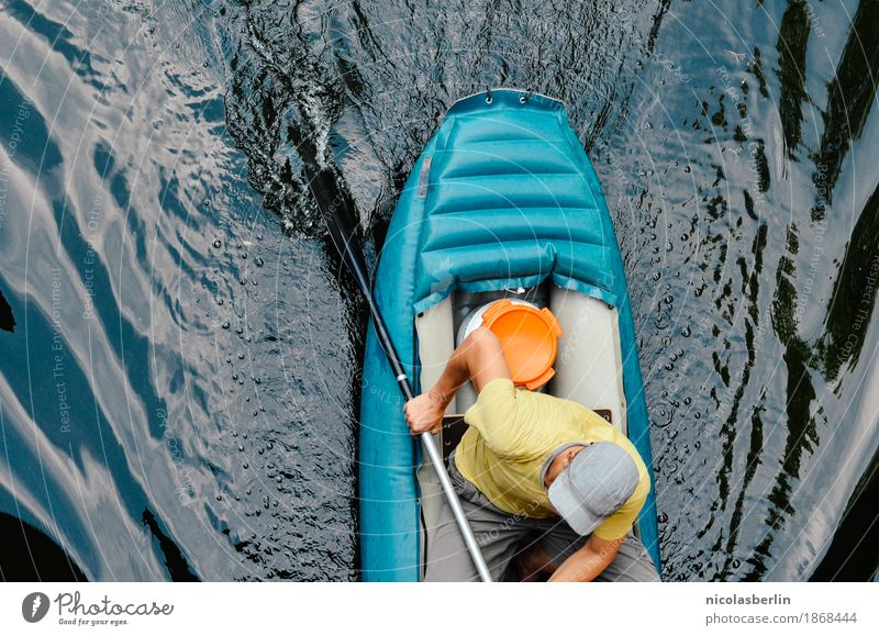 Human being Man Summer Water Joy Adults Life Lifestyle Movement Sports Healthy Freedom Swimming & Bathing Leisure and hobbies Masculine Trip
