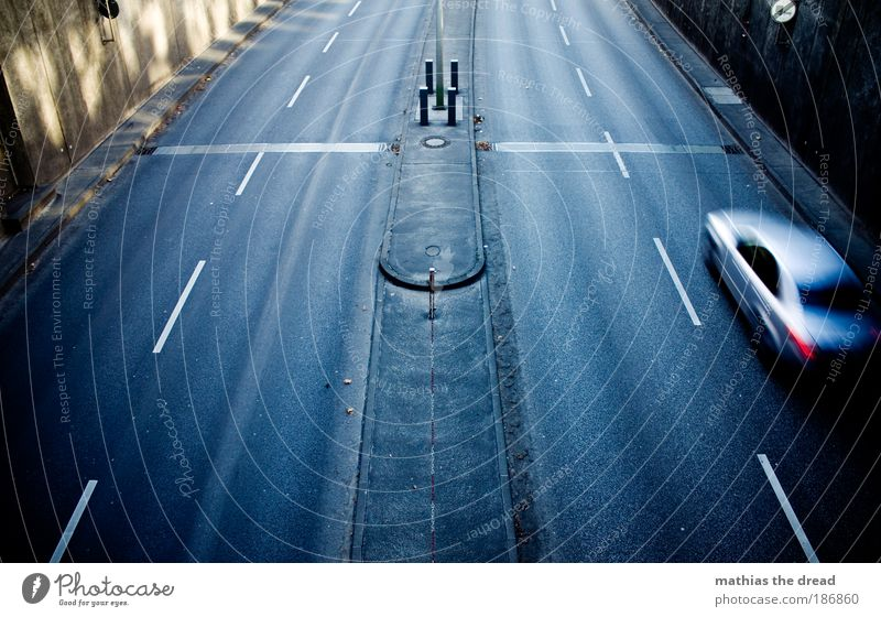Loneliness Street Cold Dark Gray Car Transport Speed Bridge Gloomy Asphalt Tracks Highway Traffic infrastructure Tunnel Vehicle