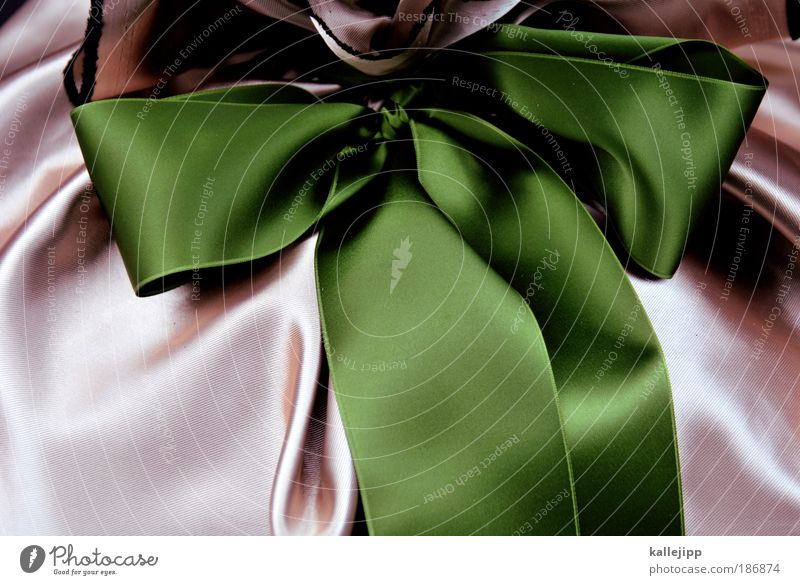 present perfect Lifestyle Feasts & Celebrations Valentine's Day Mother's Day Baptism Cloth Stripe String Knot Bow Glittering Green Pink Emotions Mysterious