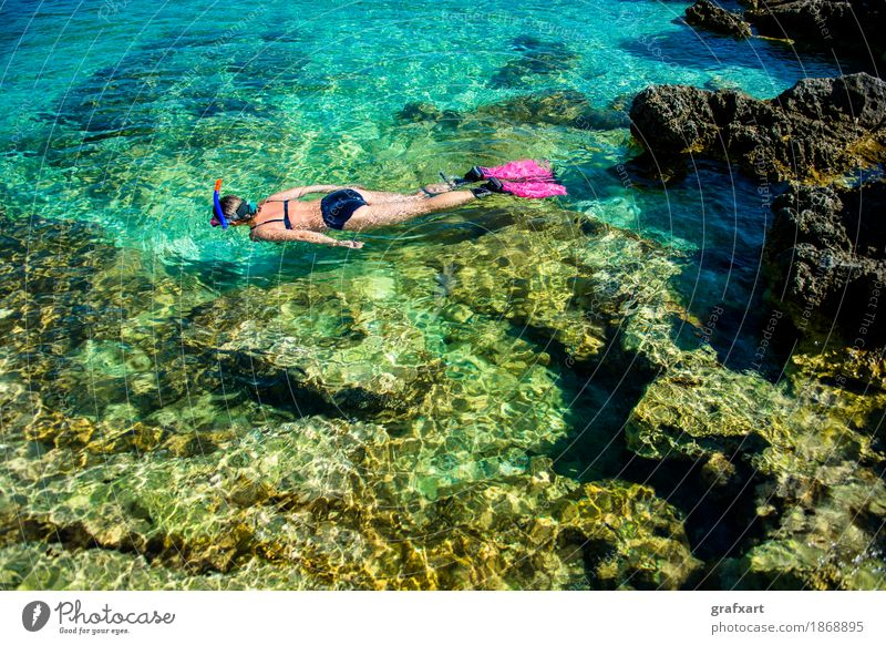 Human being Woman Vacation & Travel Summer Beautiful Young woman Water Ocean Eroticism Relaxation Girl Environment Lifestyle Sports Coast Swimming & Bathing