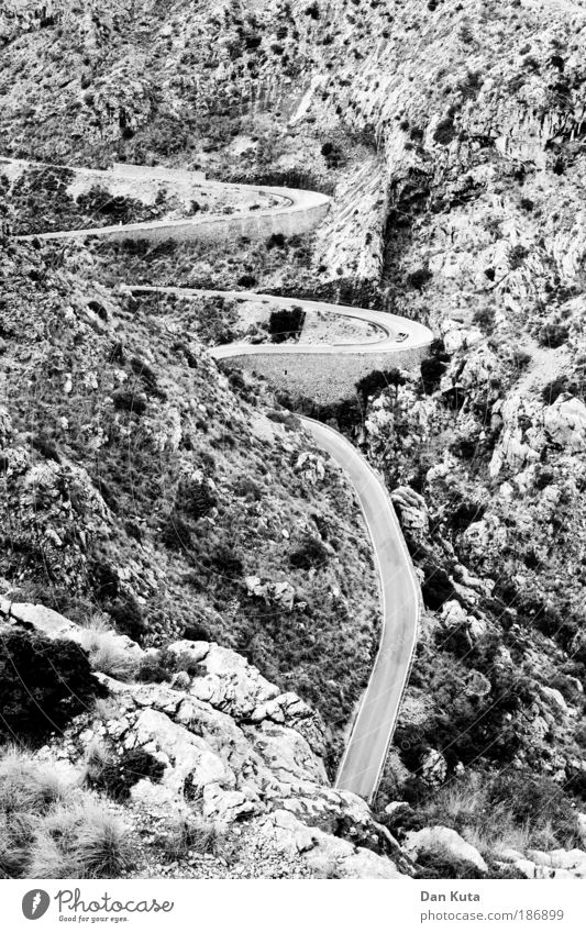 Up or down? Vacation & Travel Trip Far-off places Summer Summer vacation Mountain Nature Earth Hill Rock Canyon Many Loneliness Trade Tradition Winding road