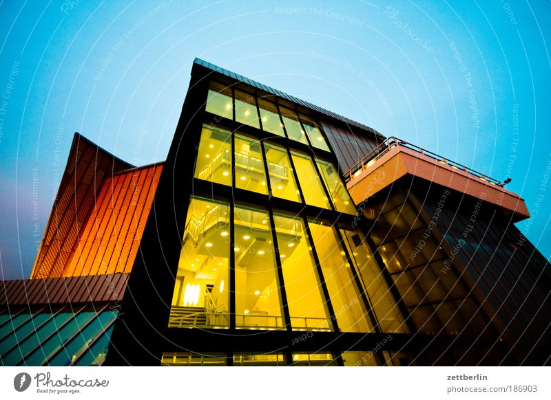 Sky Wall (building) Window Berlin Architecture Glass Facade Building Stairs Modern Culture Shows Concert Light Entrance