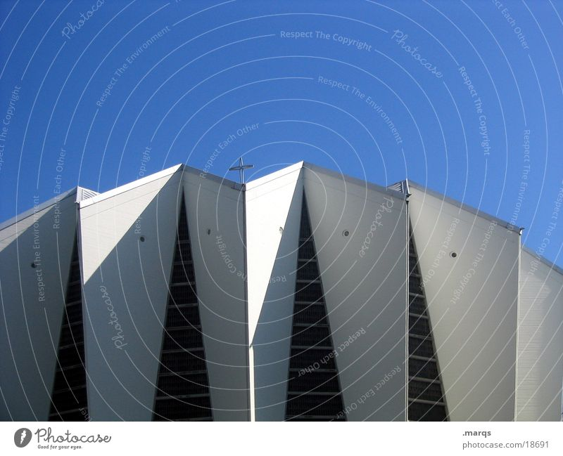 church Deities Light Corner White Wall (building) Abstract House of worship Modern Religion and faith Back God Shadow Sky Blue