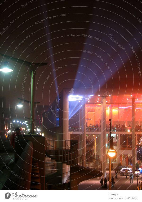 Red Lighting Bridge Leisure and hobbies Floodlight Freiburg im Breisgau Berlin Concert House