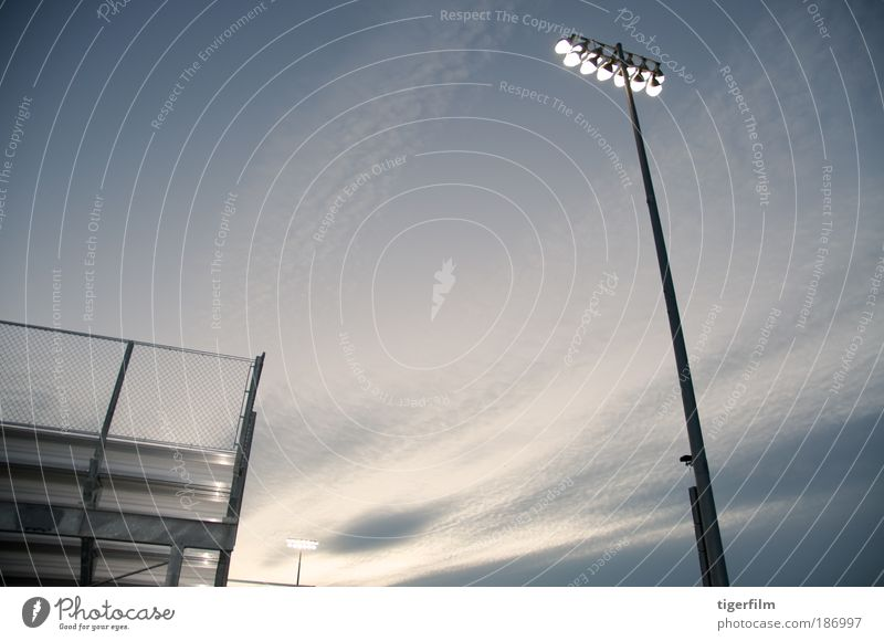 dueling stadium lights Sky Beautiful Sun Clouds Far-off places Gray Metal Lamp 2 Bright Power Tall In pairs Stand Force Illuminate
