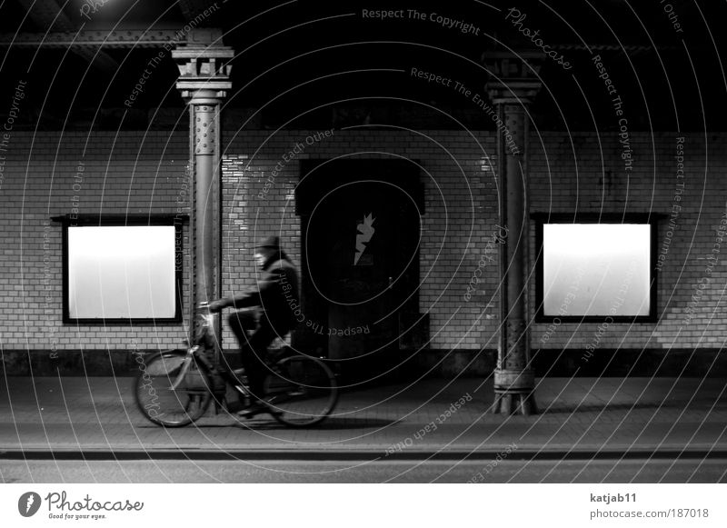 Human being Man Old City Street Wall (building) Emotions Movement Wall (barrier) Germany Bicycle Masculine Authentic Bridge Europe Driving