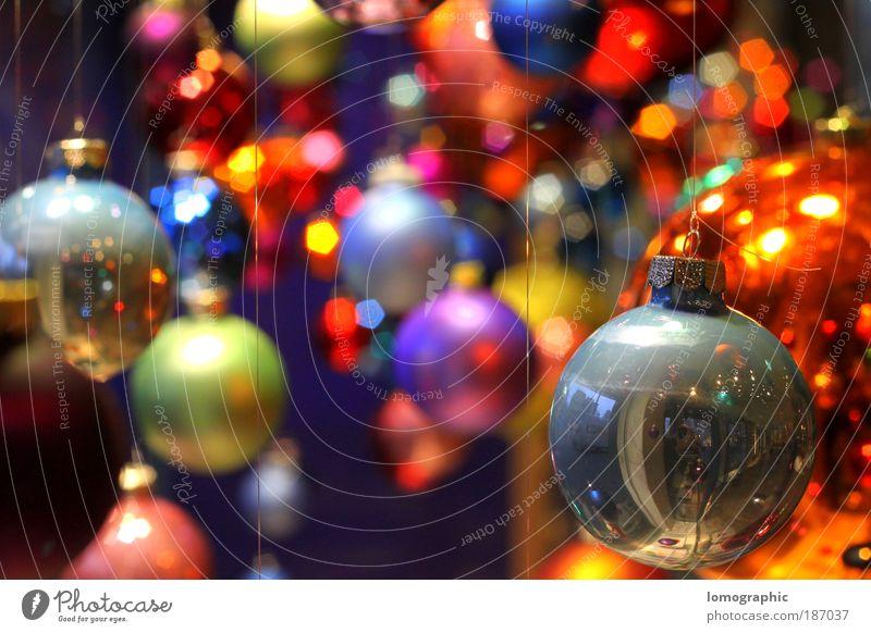Ball coloured II Decoration Glass Sphere Creativity Art Christmas & Advent Christmas tree Christmas decoration Glitter Ball Gaudy Multicoloured Glass ball