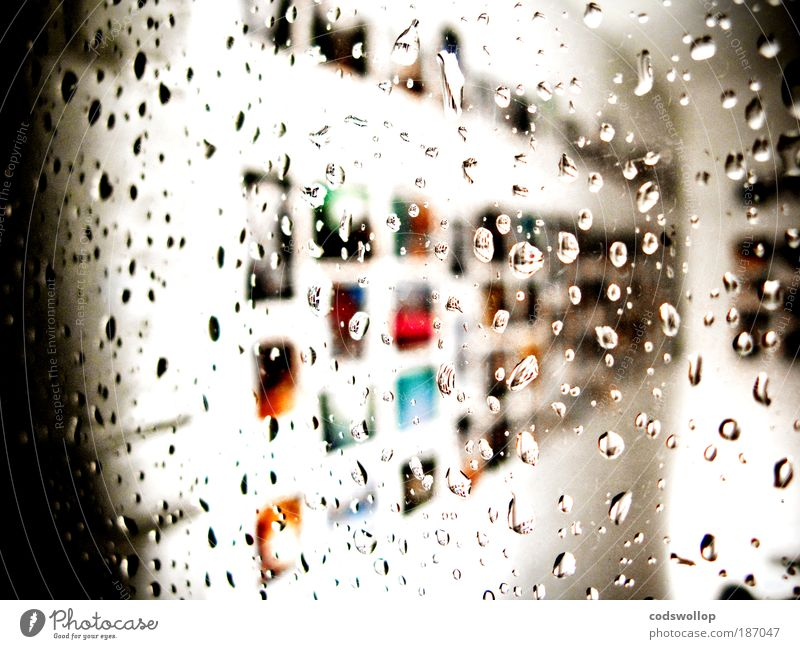 a rainy rauschy night in altona Design Art Exhibition Work of art Window Observe Wet Esthetic Rain Creativity Planning Colour photo Exterior shot Abstract Night