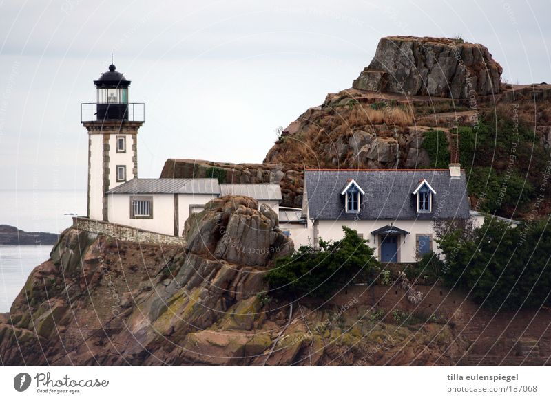 Ready for the island. Vacation & Travel Island Nature Landscape Autumn Bay France Europe Fishing village Deserted Detached house Lighthouse Building Navigation