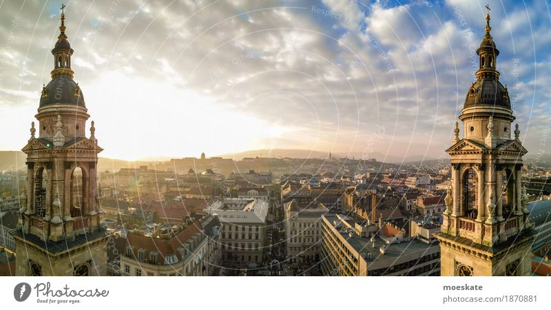 St Stephen's Basilica Budapest Capital city Downtown Old town Populated House (Residential Structure) Church Dome Manmade structures Building Architecture