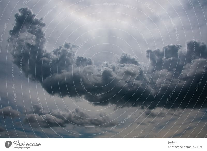 Sky Clouds Rain Fear Weather Threat Exceptional Sculpture Elements Formation Bad weather Gigantic Storm clouds Steam bath